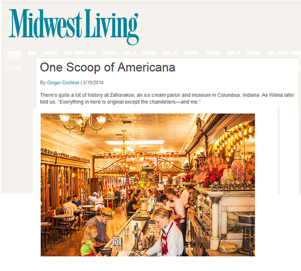 Zaharakos feature, Midwest Living blog